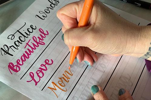 Taller Hand Lettering en Español.