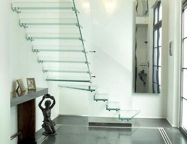 @escalier en verre