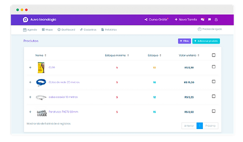 AuvoService - Software para Gestão de Ativos e Controle de Estoque