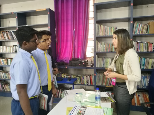 One-on-one interactions during school visit