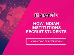 How Indian institutions recruit students? Lessons from Indian admission professionals.