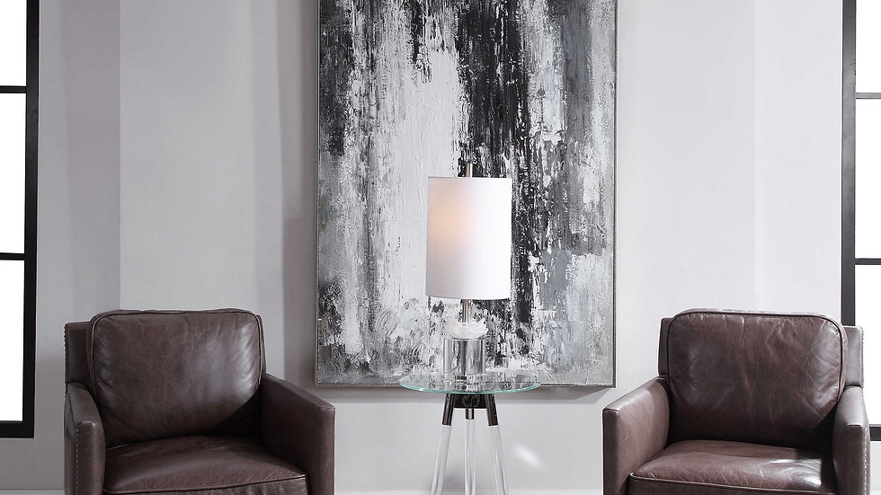 Reflected Towers Hand Painted Canvas