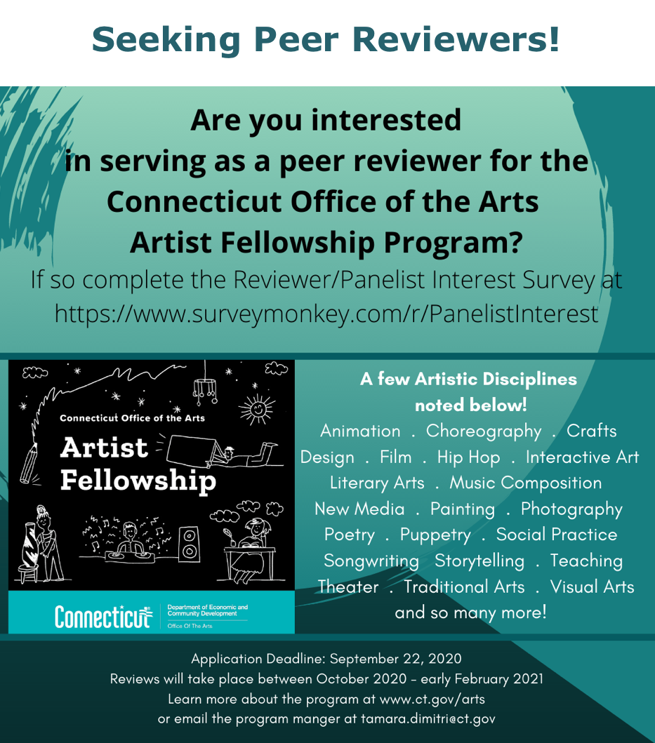 Seeking Peer Reviewers - Connecticut Office of the Arts