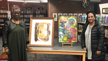 Shaunda Holloway's Art Display