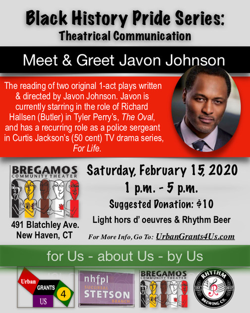 Meet & Greet Playwright Javon Johnson