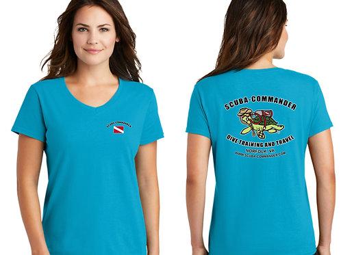 Ladies Anvil Vneck Tshirt