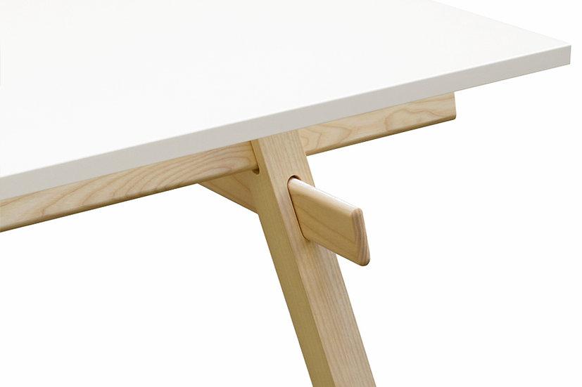Stand Tisch (Gestell und Platte) - Esche unbehandelt