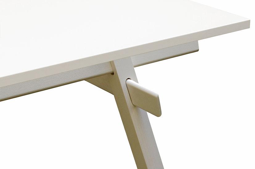 Stand Tisch (Gestell und Platte) - weiß lackiert