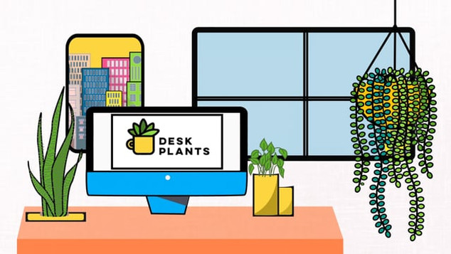 Desk Plants Animation Design