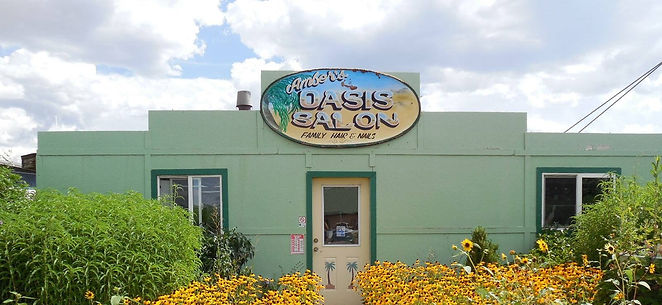The front of Amber's Oasis Salon.