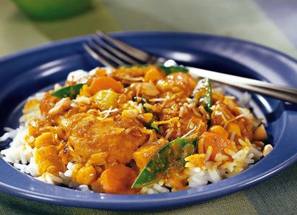 Curry au poulet coco