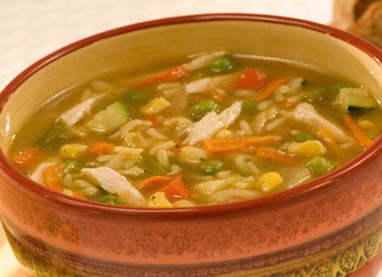 Soupe poulet, légumes et riz