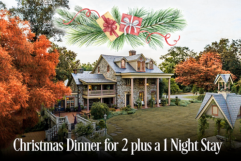 December 29, 2020 Christmas Dinner and 1 Night Stay at Moonstone Manor