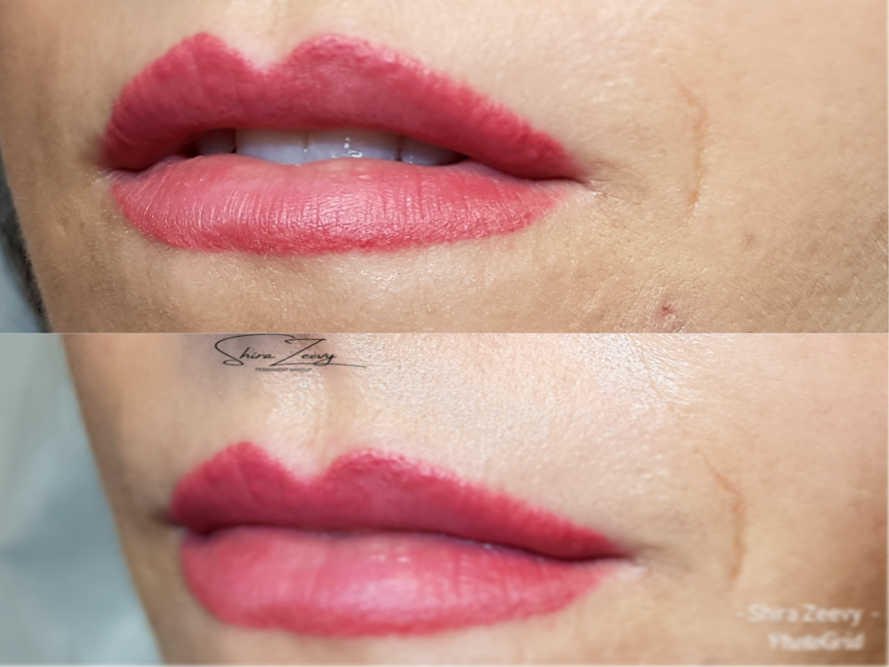 איפור קבוע שפתיים
