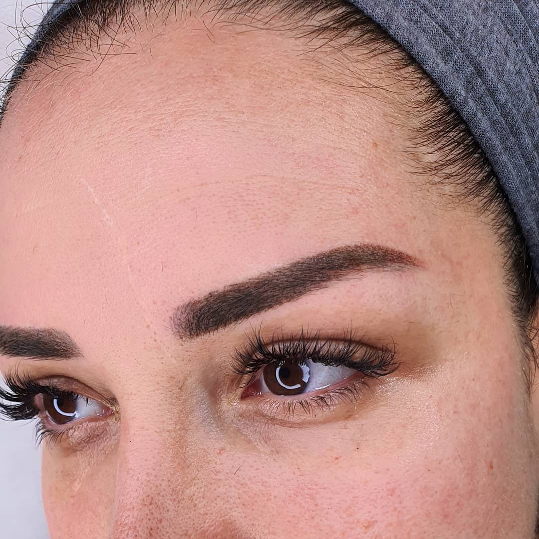 איפור קבוע גבות הצללת פודרה