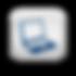 116900-matte-blue-and-white-square-icon-