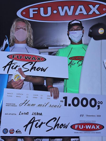 Ryan e Lisboa venceram as disputas de aéreos do 1º evento da SPSurf, em Camburi