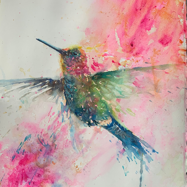 Joyful Artist Quest: Happy Dance Watercolor Classes