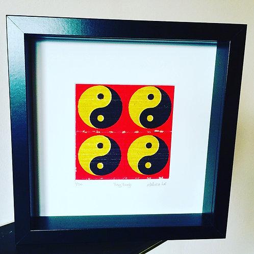 Yin & Yang LSD Blotter Art Print