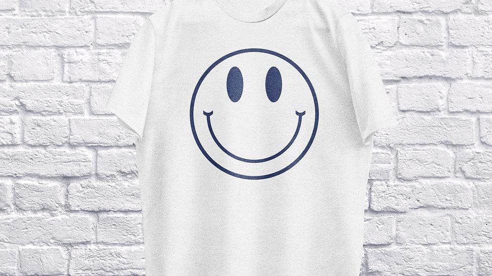 Blue Smiley's Plan T-shirt