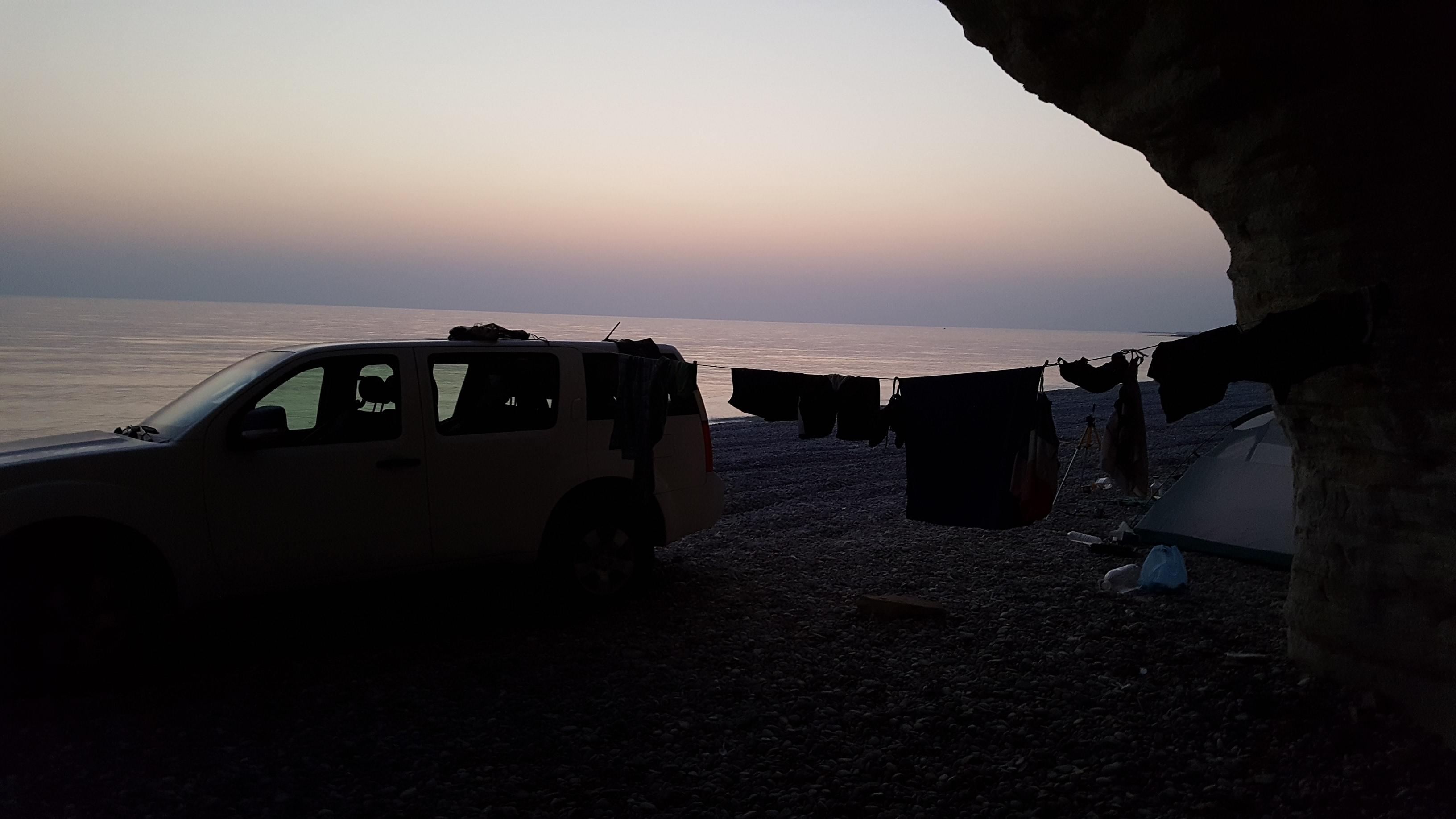 Tag 7 - Wadi Tiwi, Wadi Shab - Campen Beach Klippen (32)