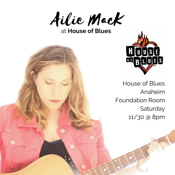 House of Blues Anaheim Show - Saturday 11/30