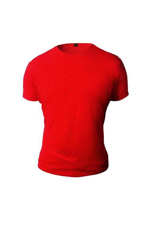 Düz Renk T-Shirt Kırmızı