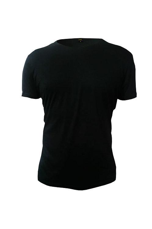 Düz Renk T-Shirt Siyah