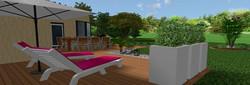 Vue 3D d'une terrasse