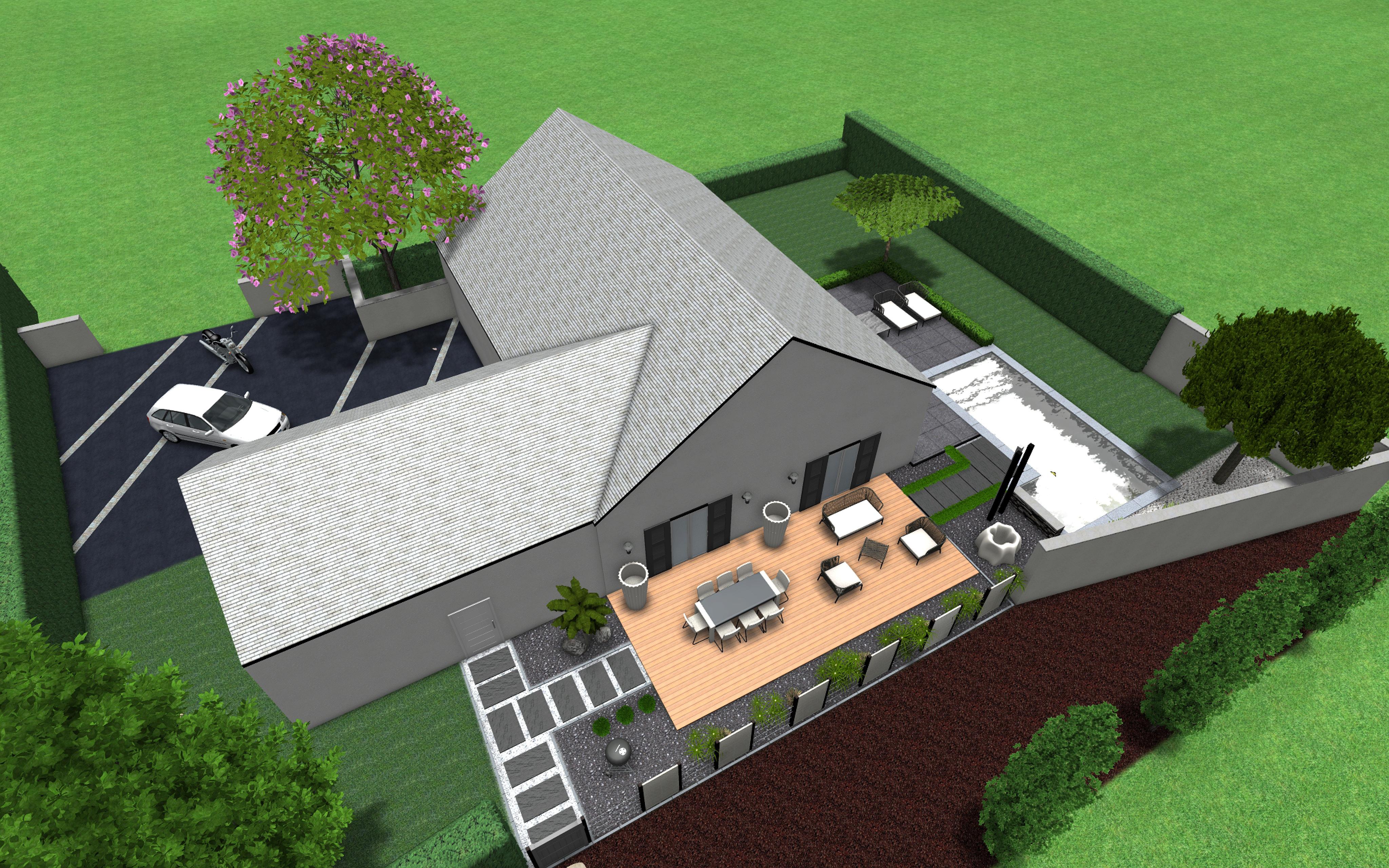 projet cloture et terrasse terracity