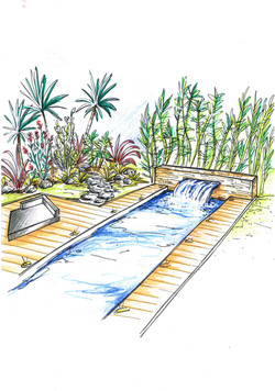 piscine et fontaine terracity