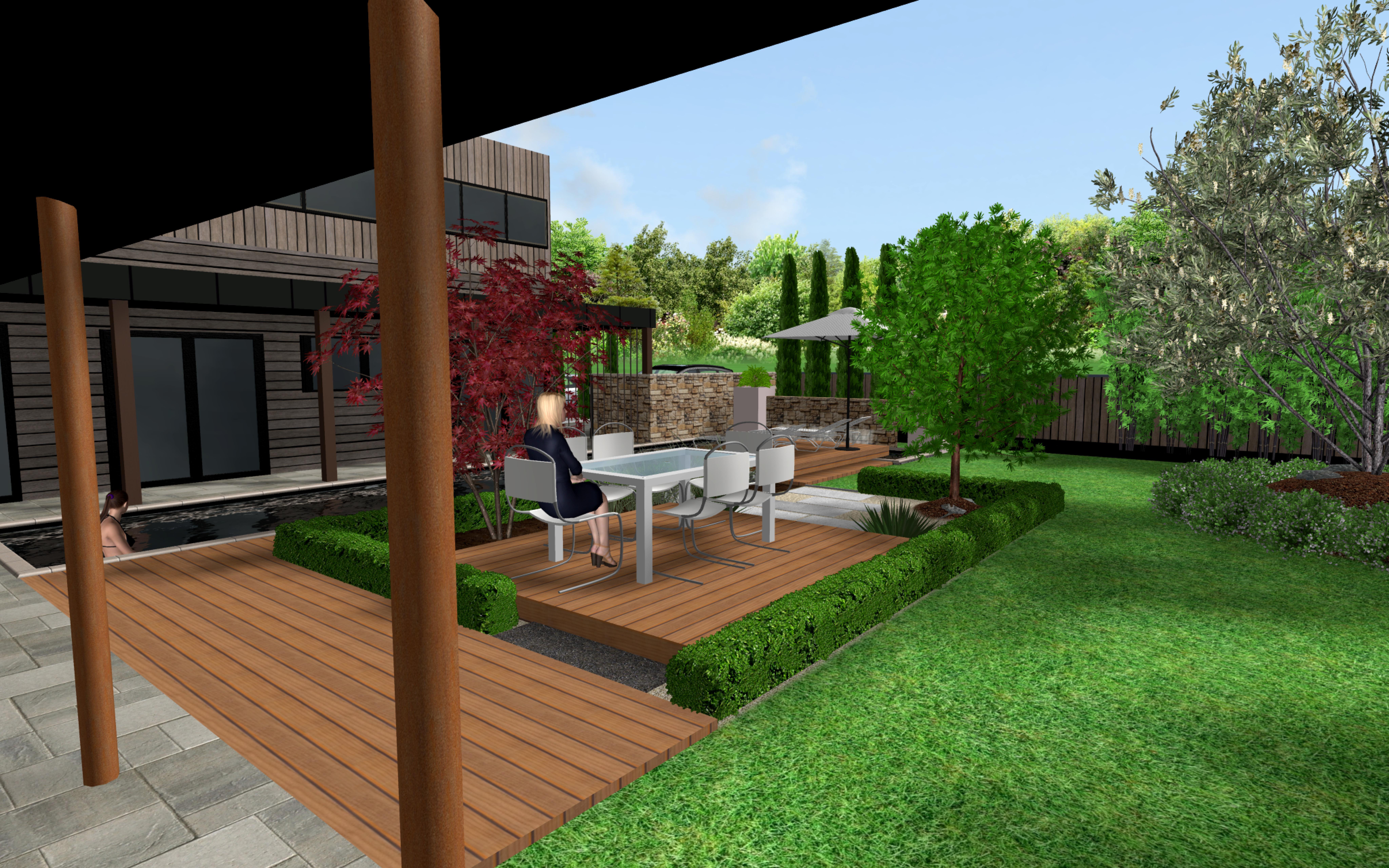 projet jardin et piscine terracity