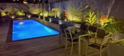 Mise en lumière d'une terrasse