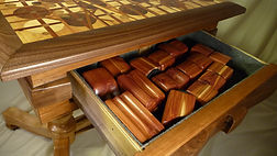 wood table chess drawer open.JPG