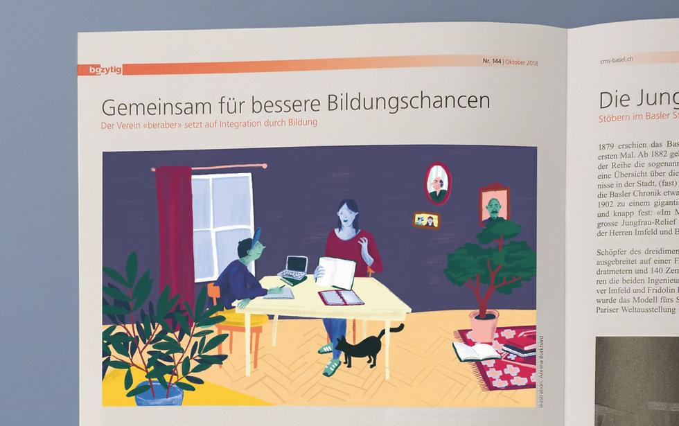 BG Post Nachhilfe Editorial Illustration