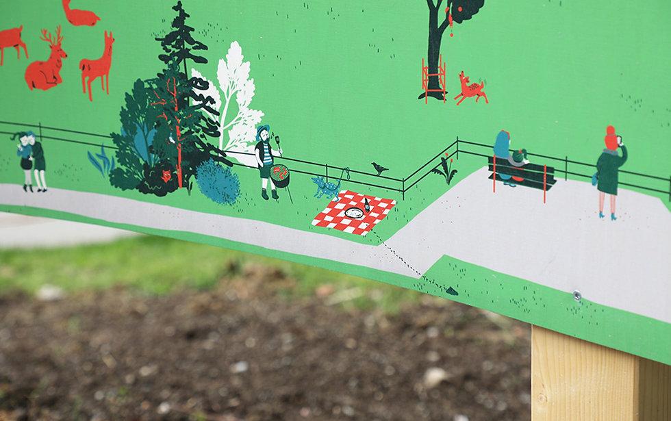 Panorama Illustration Wildnispark