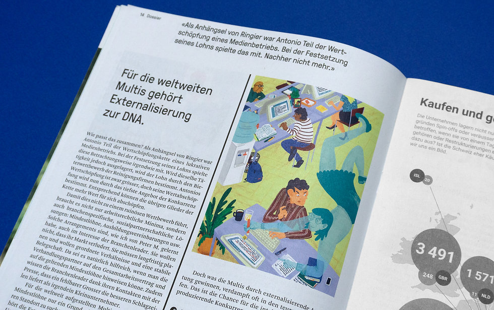 Editorial ILlustration syndicom magazin