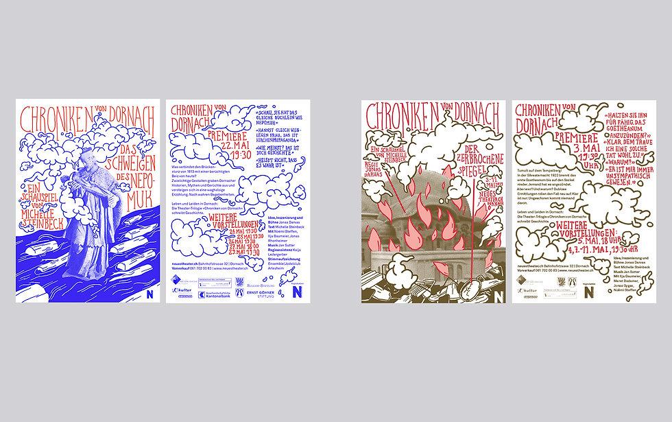Theaterflyer Theaterplakat Chroniken von Dornach