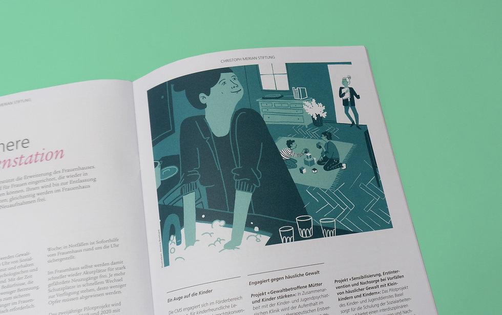 BG Post Frauenhaus Editorial Illustration