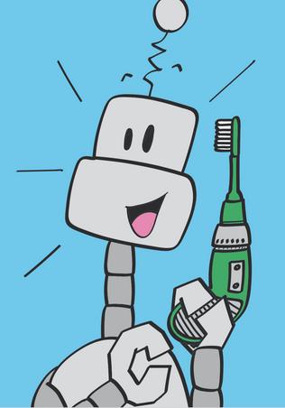 Les robots se lavent les dents