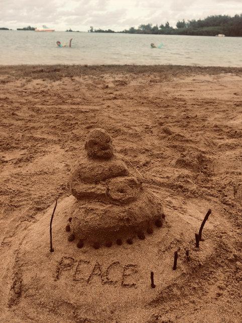 2019 / Sculpture sur sable