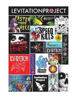 Levitation Project sticker sheet