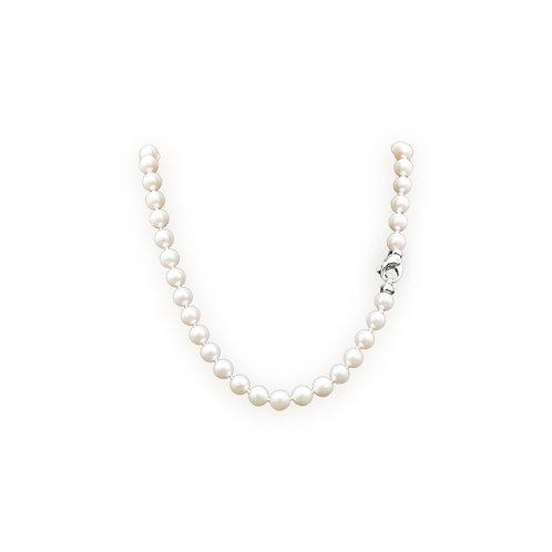 Perlenkette Akoya  7-7.5 mm 18k WG Diamantenschliesse