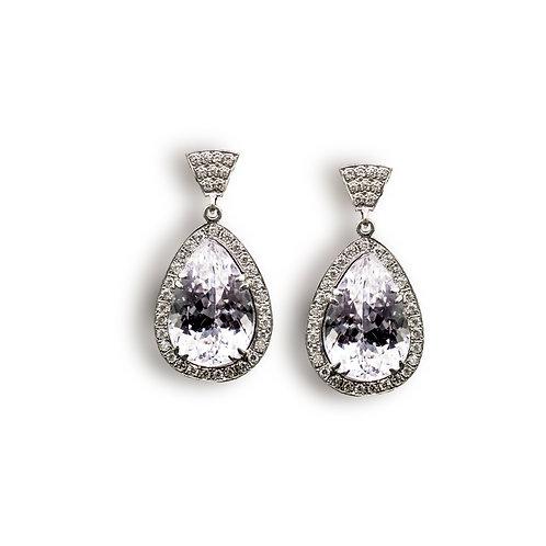 Ohrringe Tropfen - Diamant