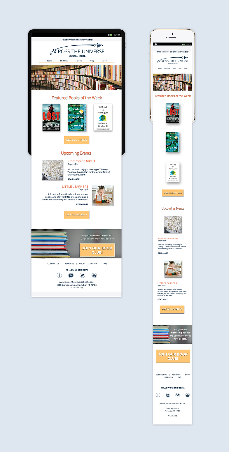 Across The Universe Newsletter Concept 1