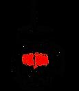 verre  bocal paille carte noir et rouge.