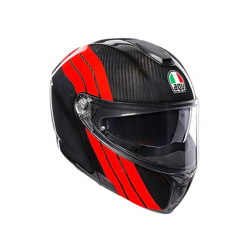 CASCO AGV SPORTMODULAR STRIPES CARBON