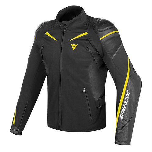 CHAMARRA DAINESE STREET MASTER LEATHER TL YELLOW