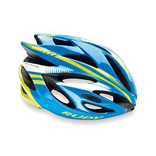 CASCO RUDY RUSH BLUE LIME FLUO