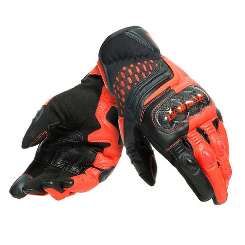 GUANTES DAINESE CARBON 3 SHORT RED FLUO